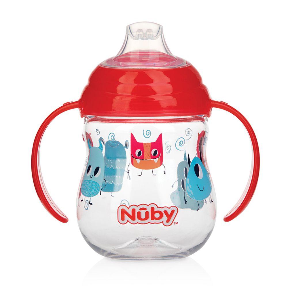 Nuby - 晶透學飲杯鴨嘴(4M+)-紅-270ml
