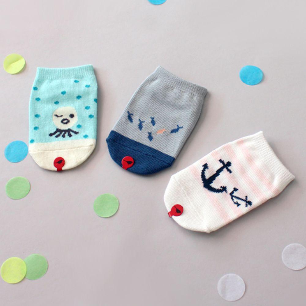 韓國 Kokacharm - 韓國製船型襪-五件組-Snorkeling