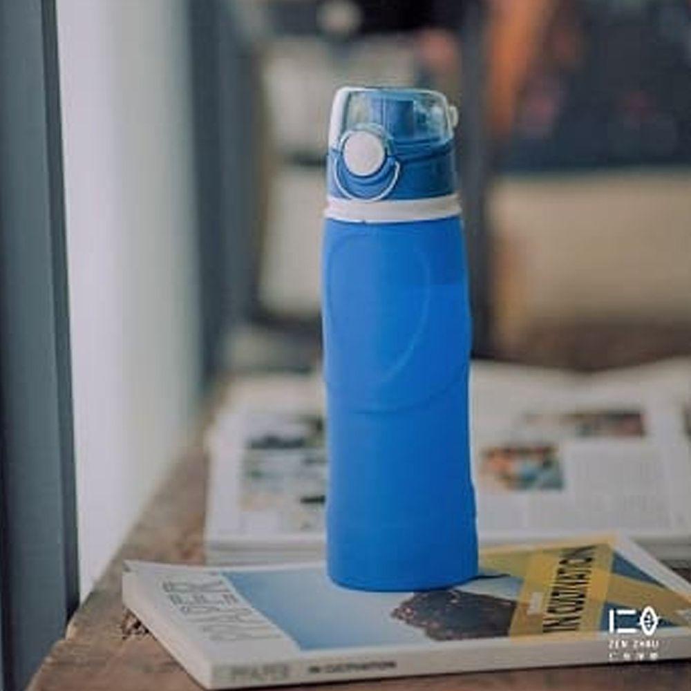 仁舟淨塑 - 捲捲矽水瓶-湛海藍