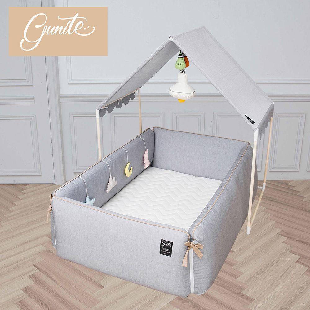 gunite - 沙發嬰兒床_安撫陪睡式0-6歲-全套組-北歐灰