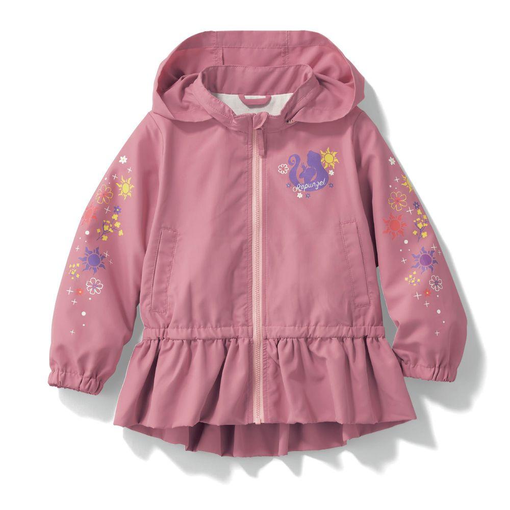 日本千趣會 - 迪士尼公主荷葉衣襬防風連帽外套-長髮公主-粉