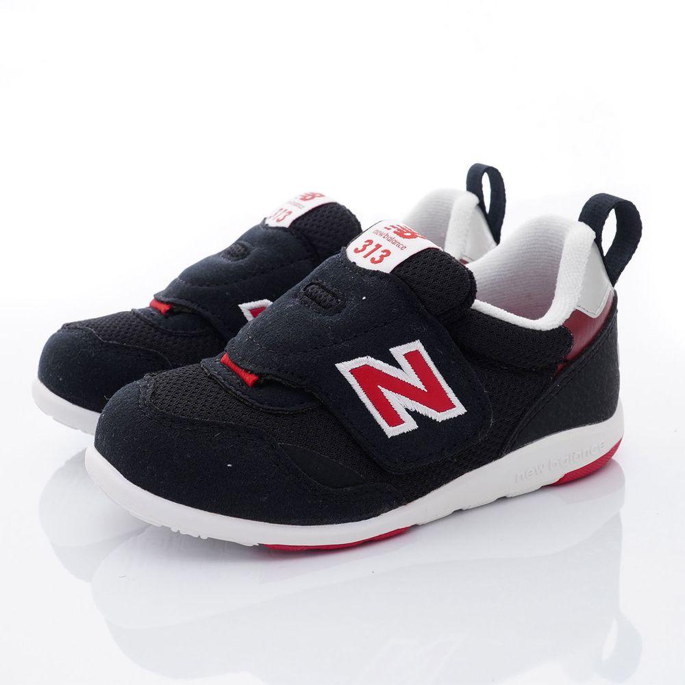 New Balance - NB313系列大絆帶休閒鞋款(小童段)-黑/深紅