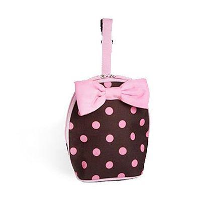 保溫保冷袋-附蝴蝶結-粉紅點