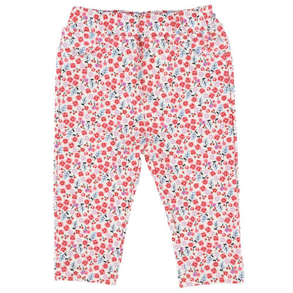 akachan honpo - 女7分彈性緊身褲-粉紅色