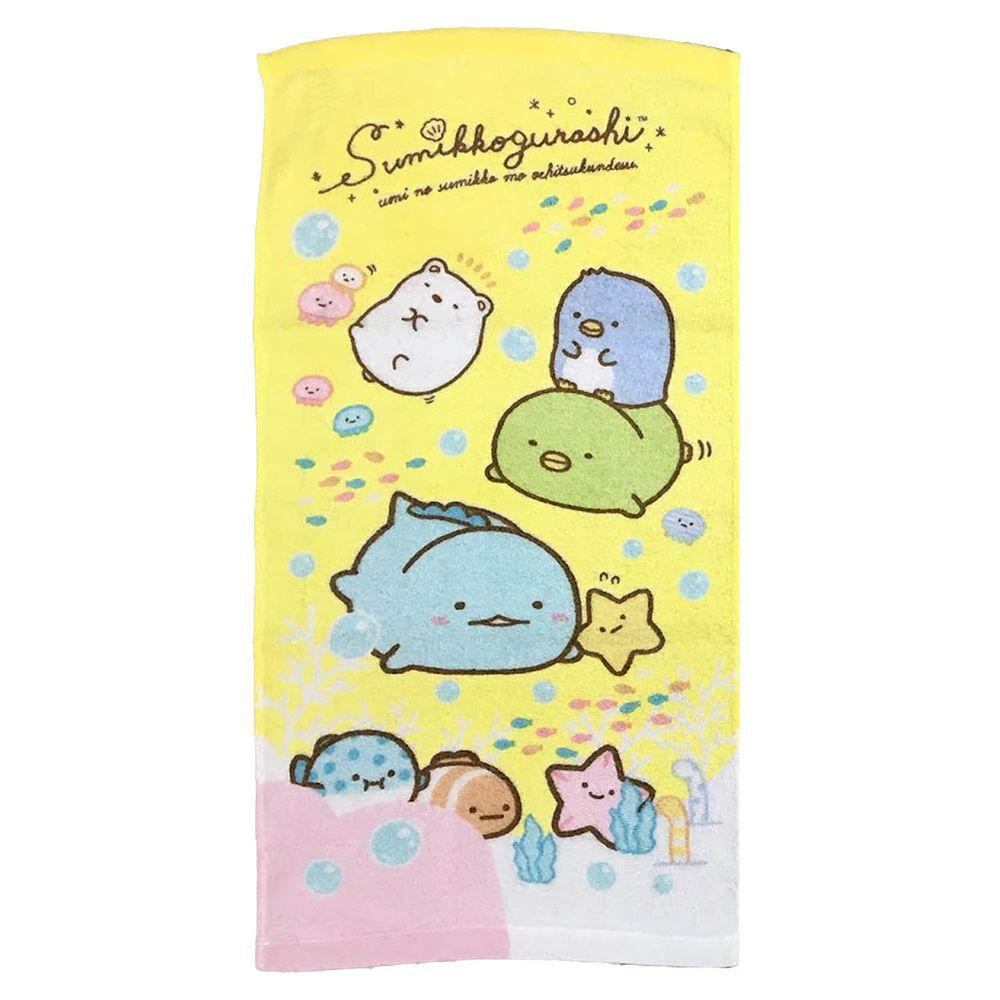 角落小夥伴 - 印花童巾-海洋篇-黃 (28*54cm)