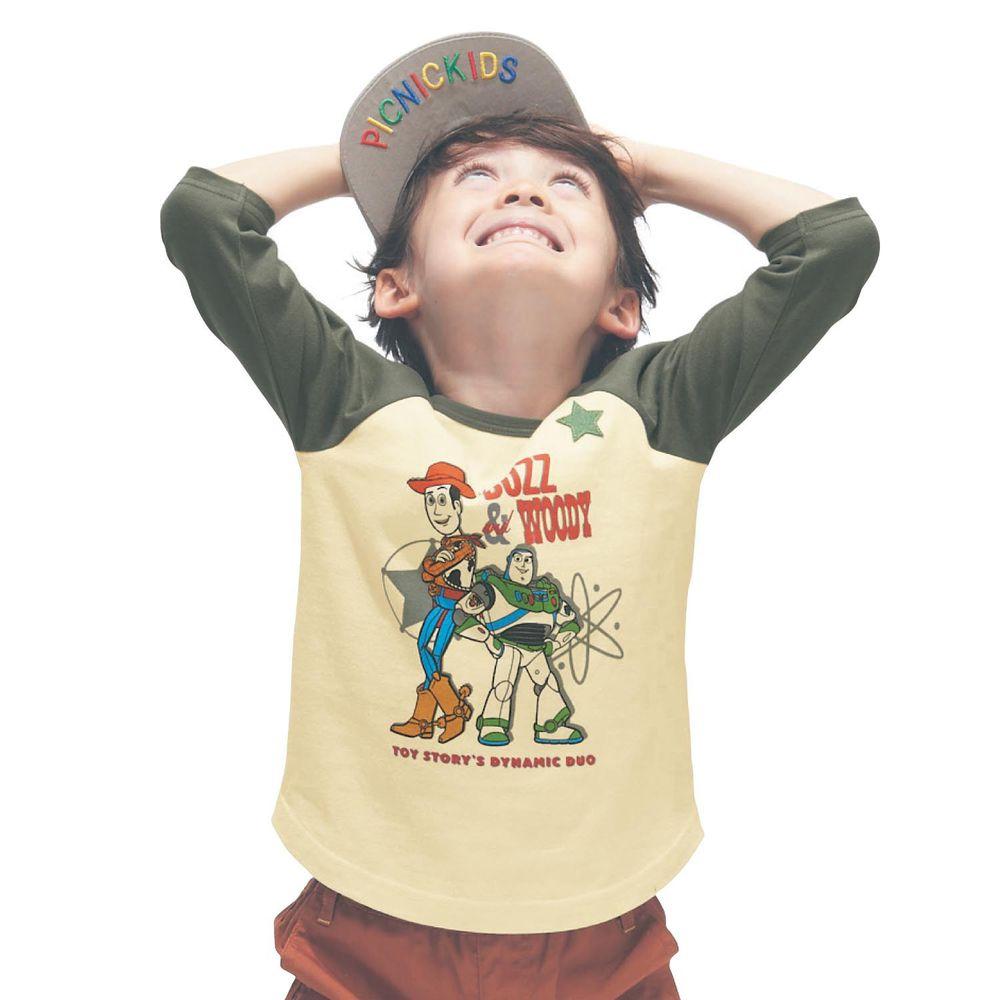 日本千趣會 - 迪士尼純棉七分袖T-玩具總動員-墨綠