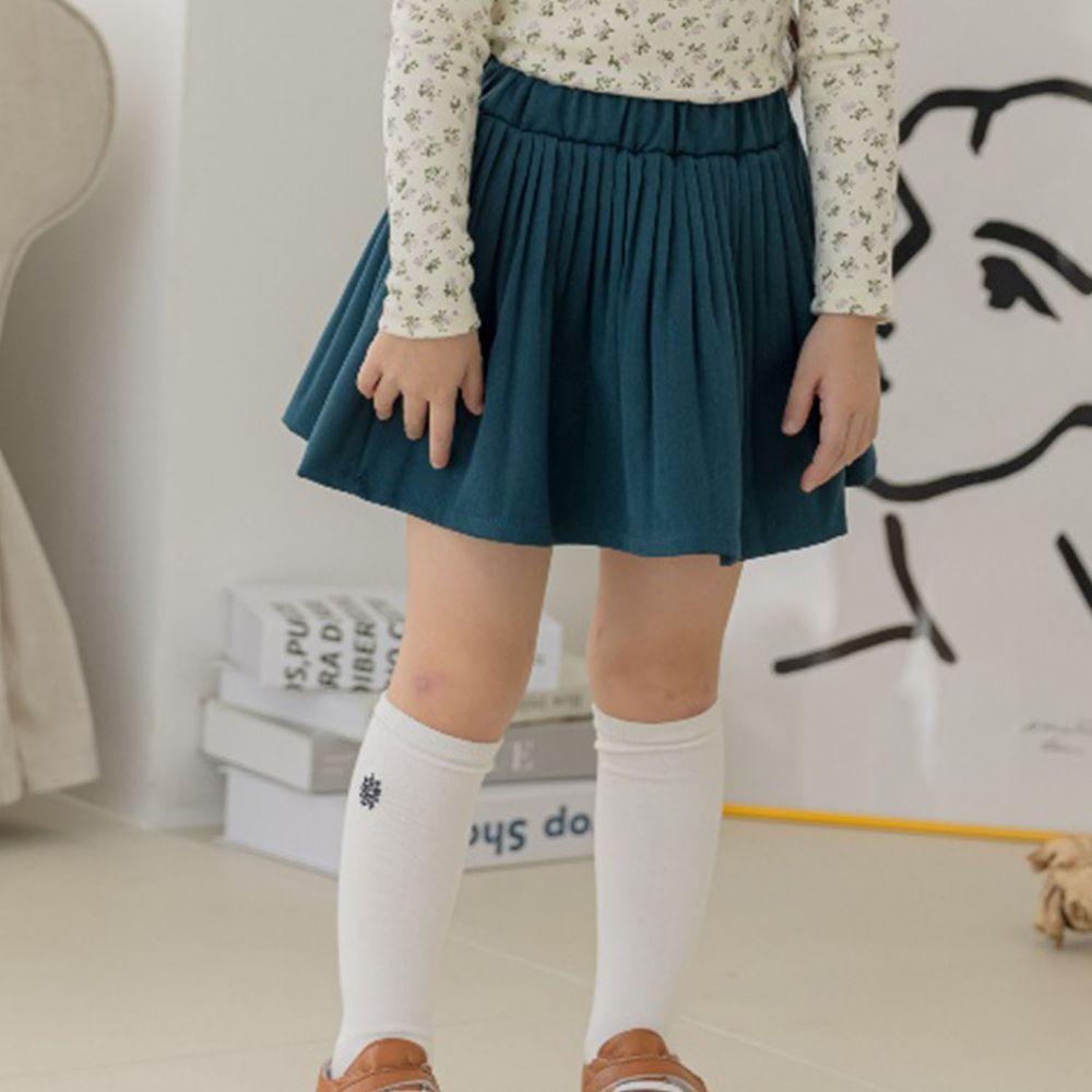 韓國 Orange Mom - 皺摺百搭短裙-藍綠
