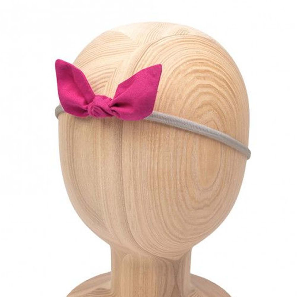 波蘭UL&KA - KHB-02 波蘭手工細繩髮帶-細繩髮帶-pink