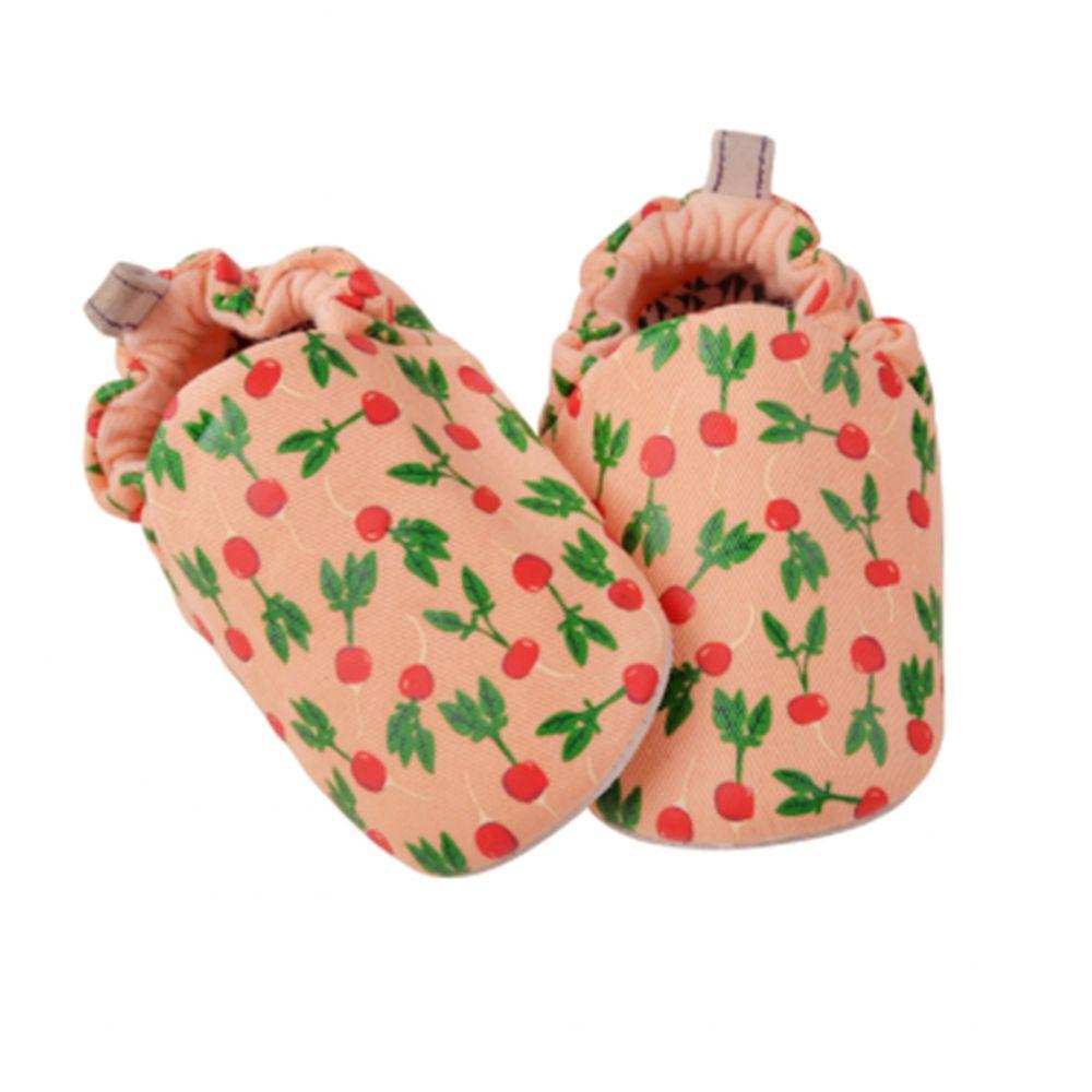 英國 Poconido - 寶寶手工鞋/學步鞋-櫻桃蘿蔔