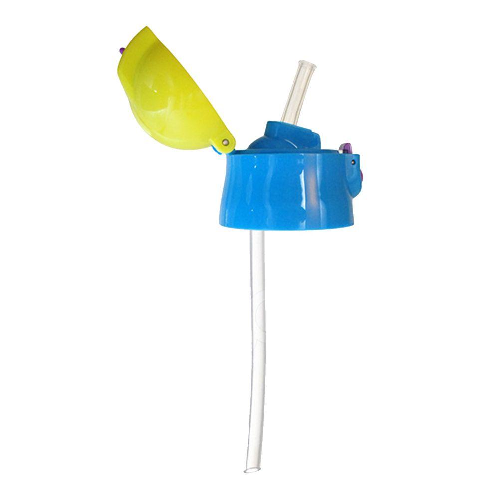 日本 SKATER - 不鏽鋼保溫吸管瓶(360ml)上蓋組(含吸管)-藍綠