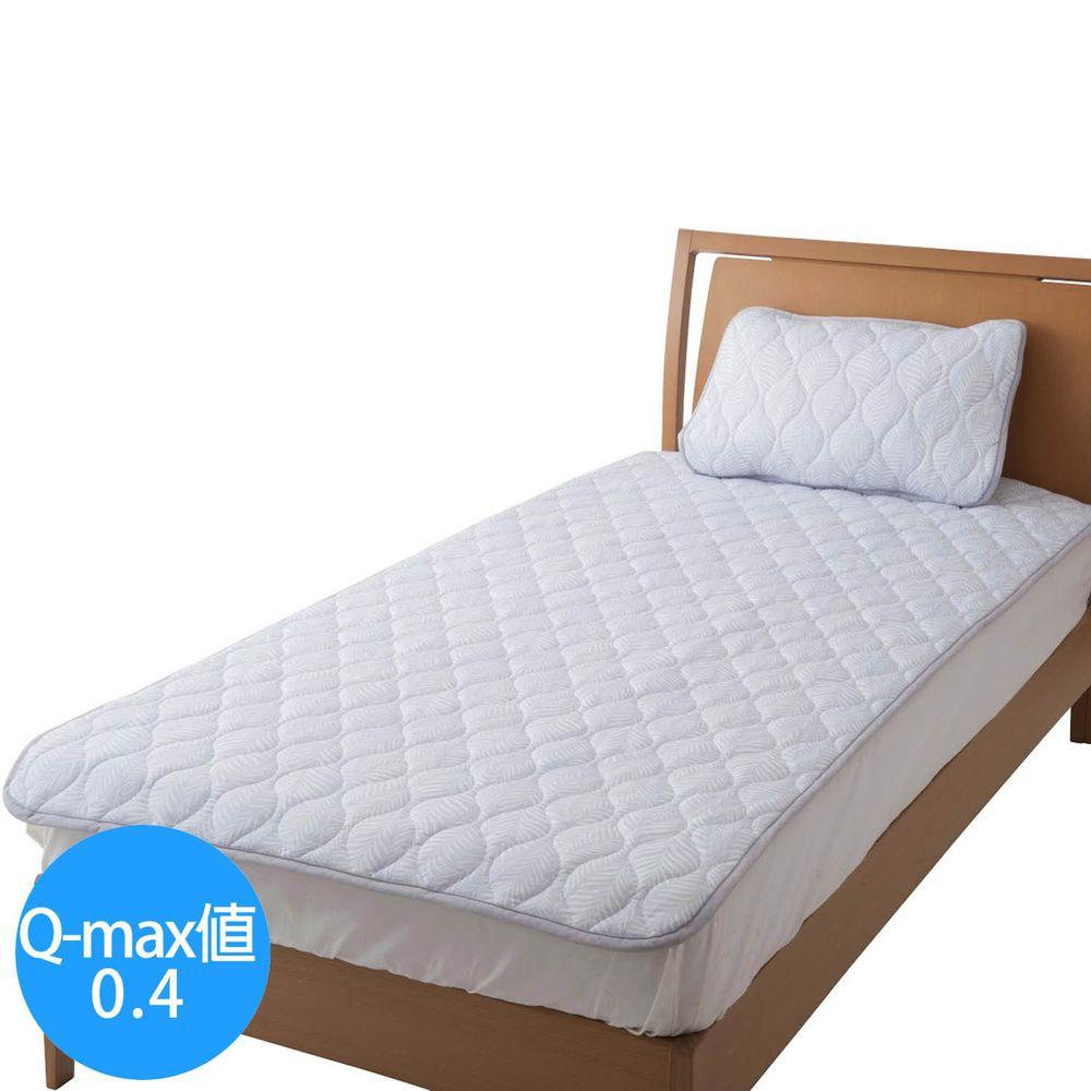 日本小泉 - 節電對策冷感波浪紋床墊毯-搖曳水草-灰 (100x205cm)