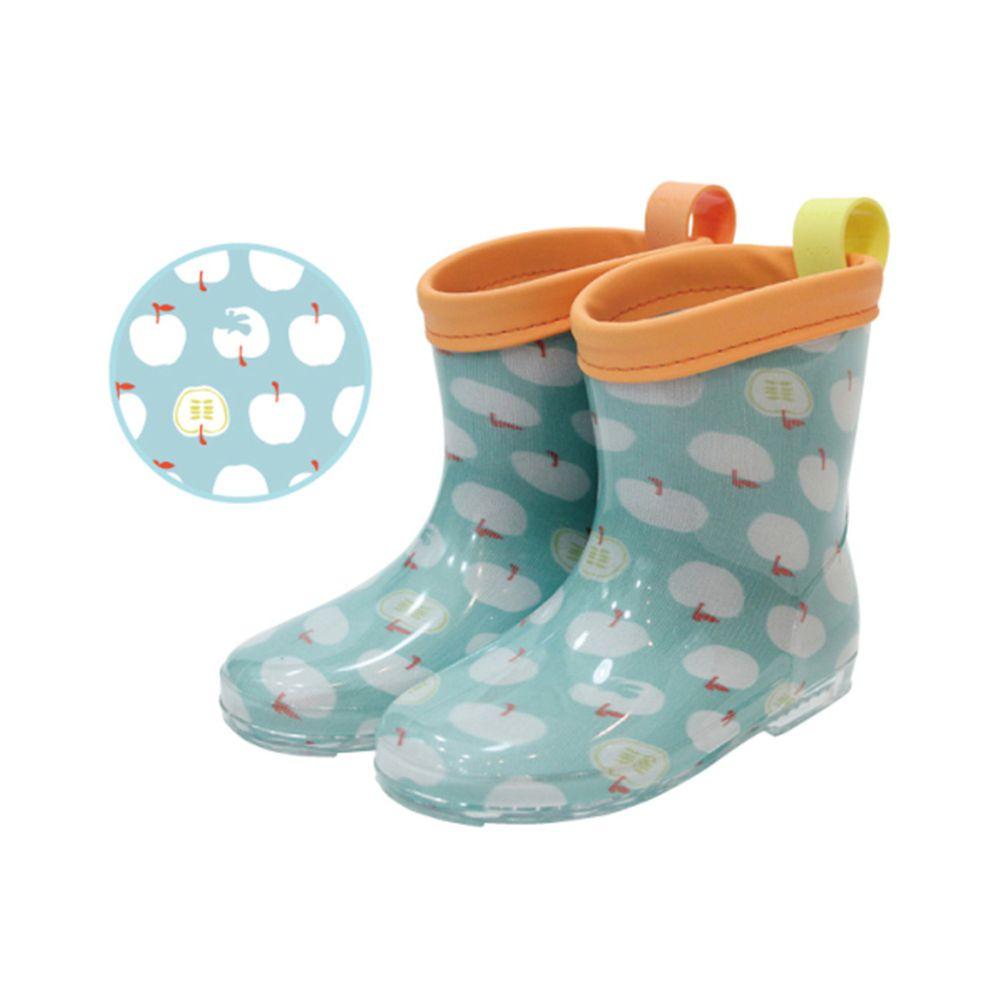 日本 kukka hippo - 小童雨鞋-粉綠蘋果