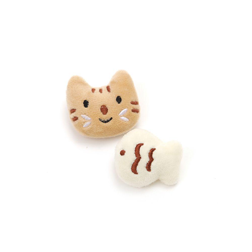 韓國 OZKIZ - 裝飾小別針-貓與魚