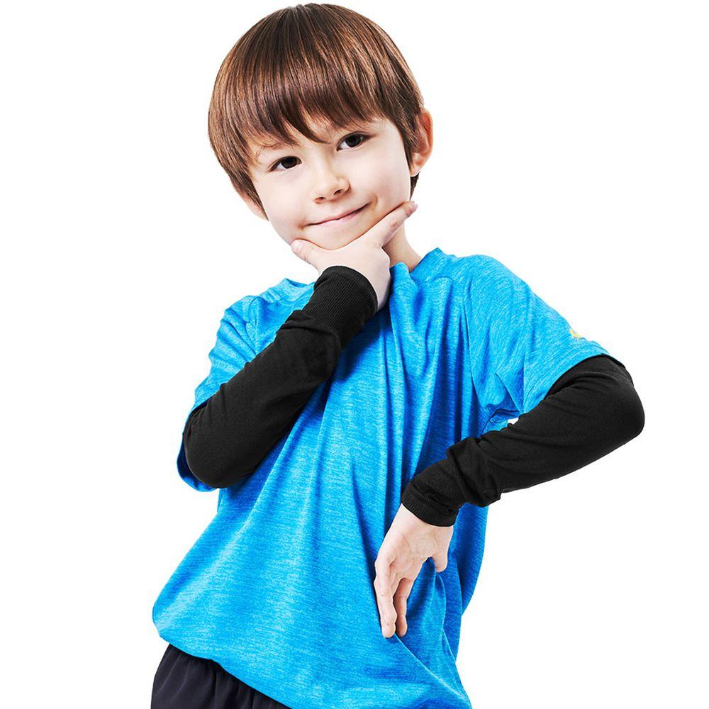 GIAT - UPF50+勁涼彈力防曬袖套(兒童款)-酷炫黑 (FREE)