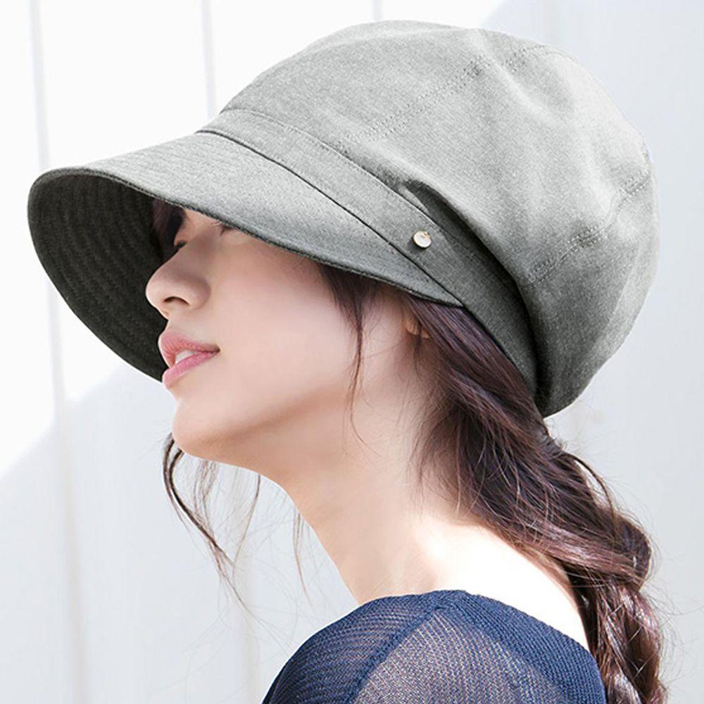 日本服飾代購 - 【irodori】抗UV小顏效果遮陽帽-仿舊黑 (L(61cm))