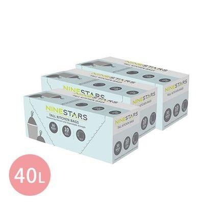 專業收納垃圾袋40L-超值三入組-30入/組x3