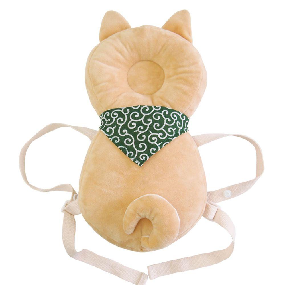akachan honpo - 嬰兒防護枕背包-網眼 小狗-淺卡其色-約32cm×17cm