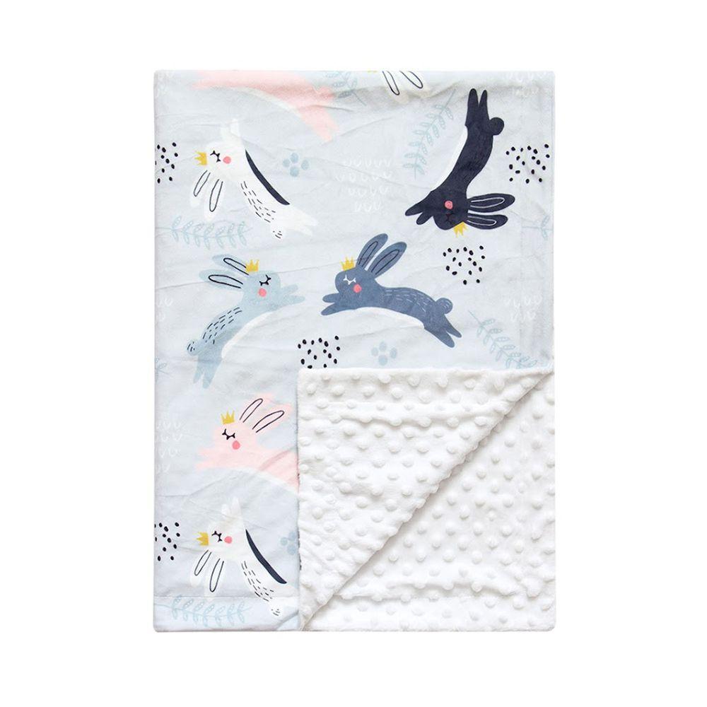 JoyNa - 雙層印花泡泡毯 嬰兒被被-兔子 (76*84cm)