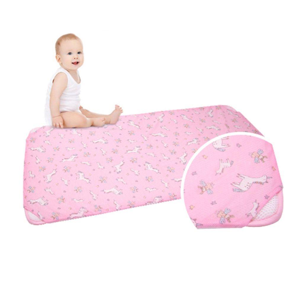 韓國 GIO Pillow - 智慧二合一有機棉超透氣排汗嬰兒床墊-夢幻小馬 (M號)