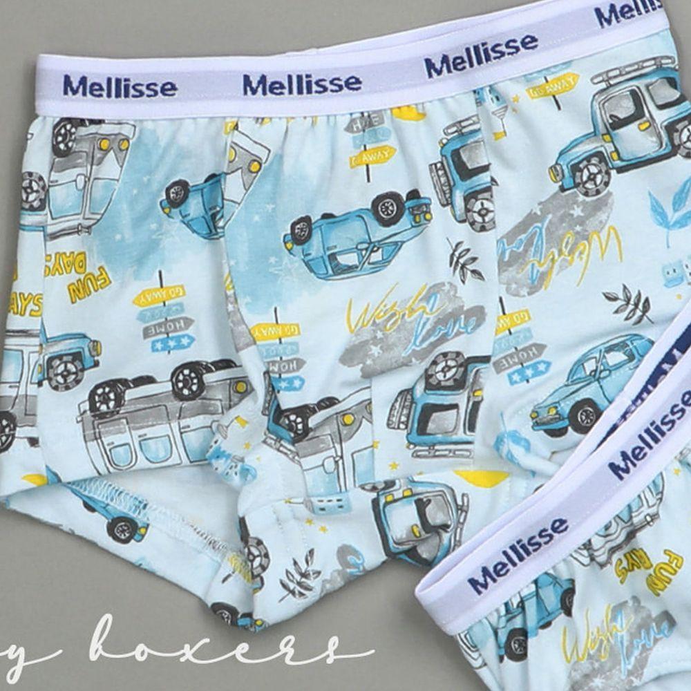 韓國 Mellisse - 純棉四角褲(男寶)-夜光車車