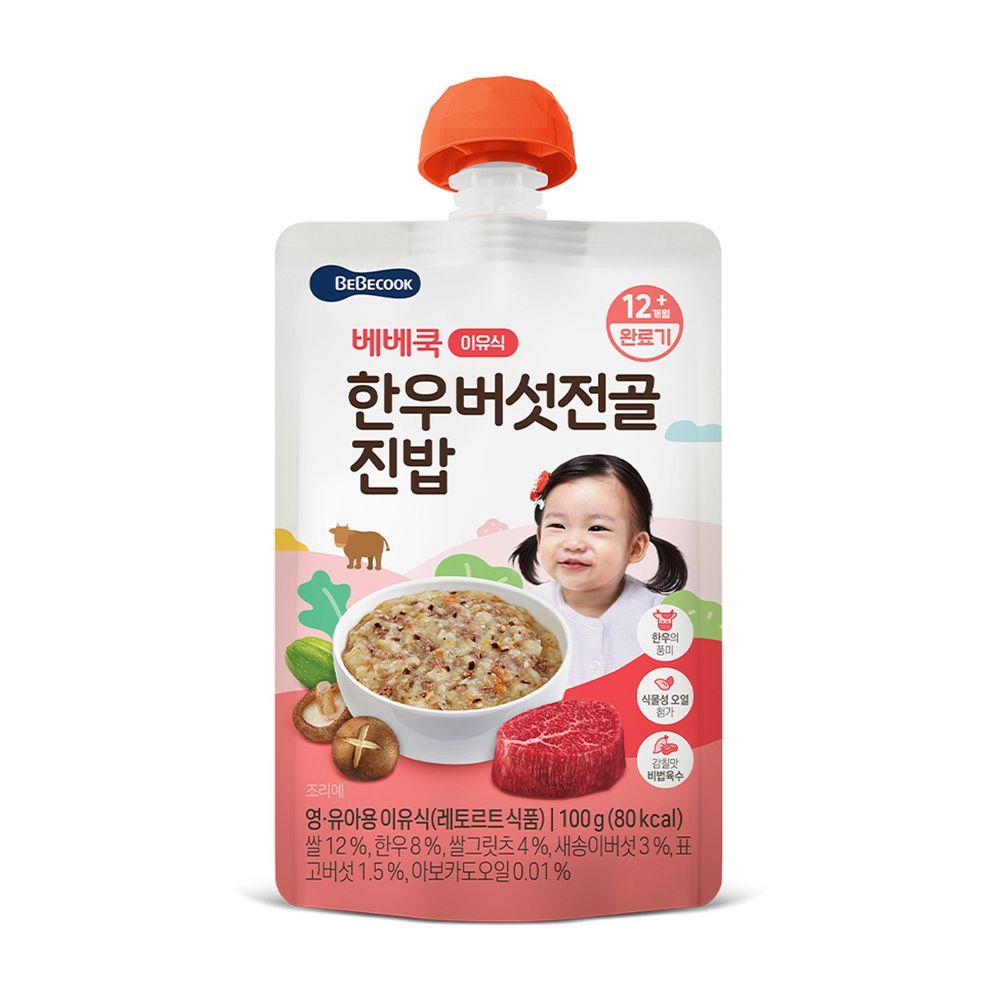 BEBECOOK 寶膳 - 韓牛香菇湯軟飯-效期3/10/2022-100g
