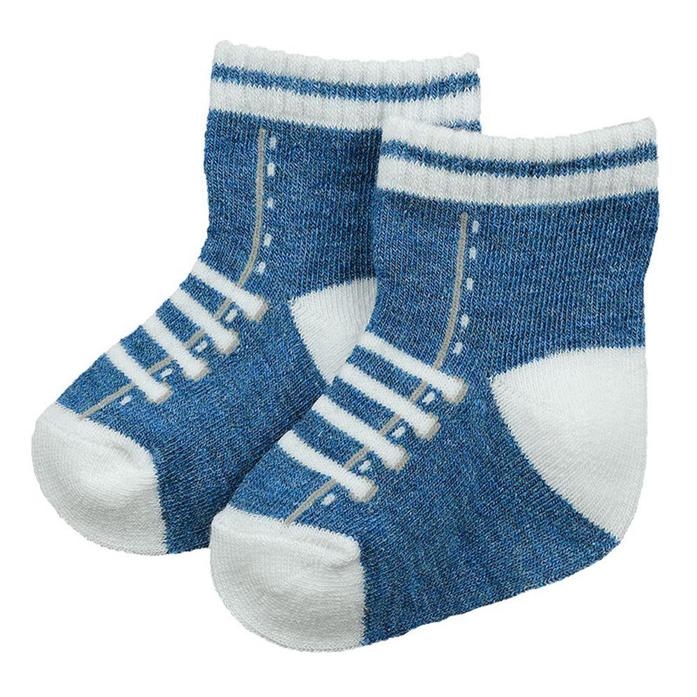 akachan honpo - 新生兒鞋型襪-深藍色 (7~9cm)