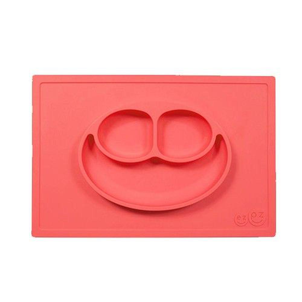 美國 ezpz - 快樂餐盤 Happy Mat-餐盤-珊瑚紅 (38cm*25cm*2.54cm)-420ml
