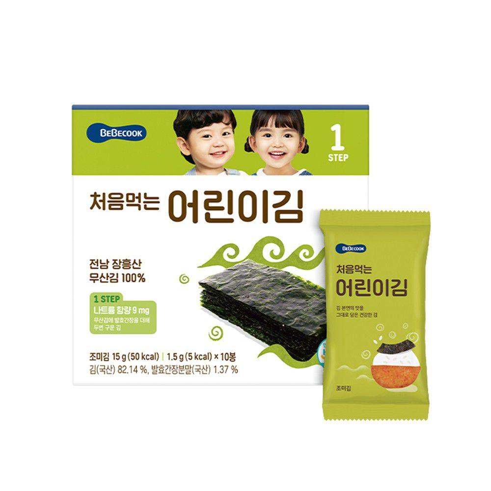 BEBECOOK 寶膳 - 幼兒海苔-原味 10入/盒