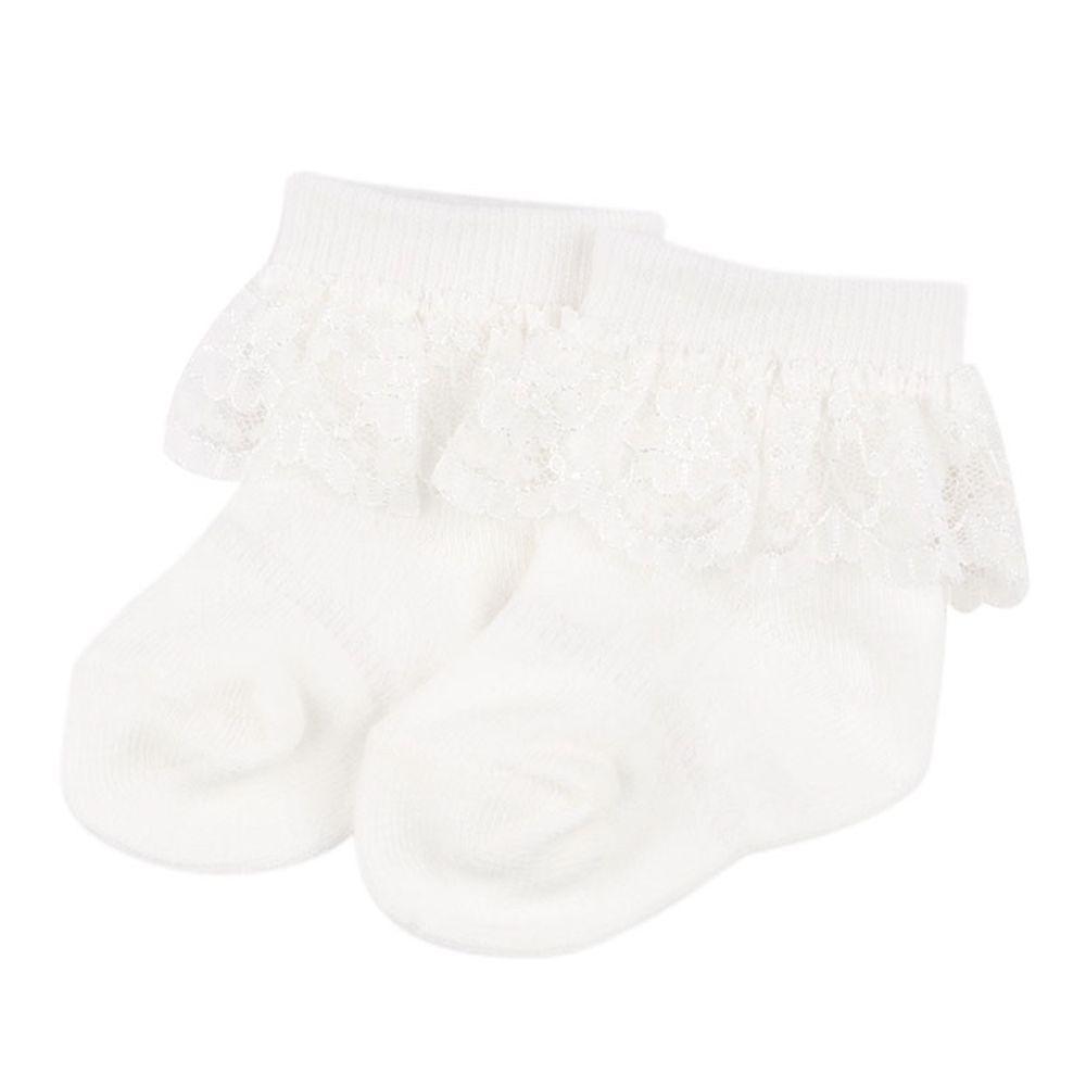 akachan honpo - 蕾絲襪-白色 (7~9cm)