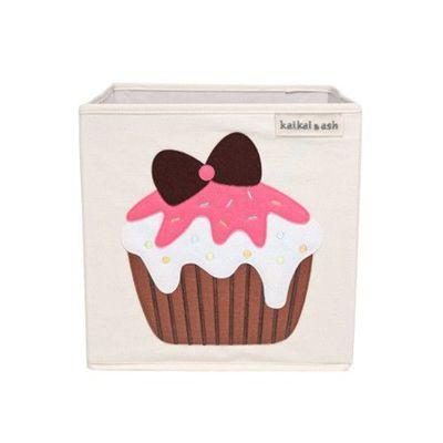 玩具收納箱-香草草莓杯子蛋糕 (33x33x33cm)
