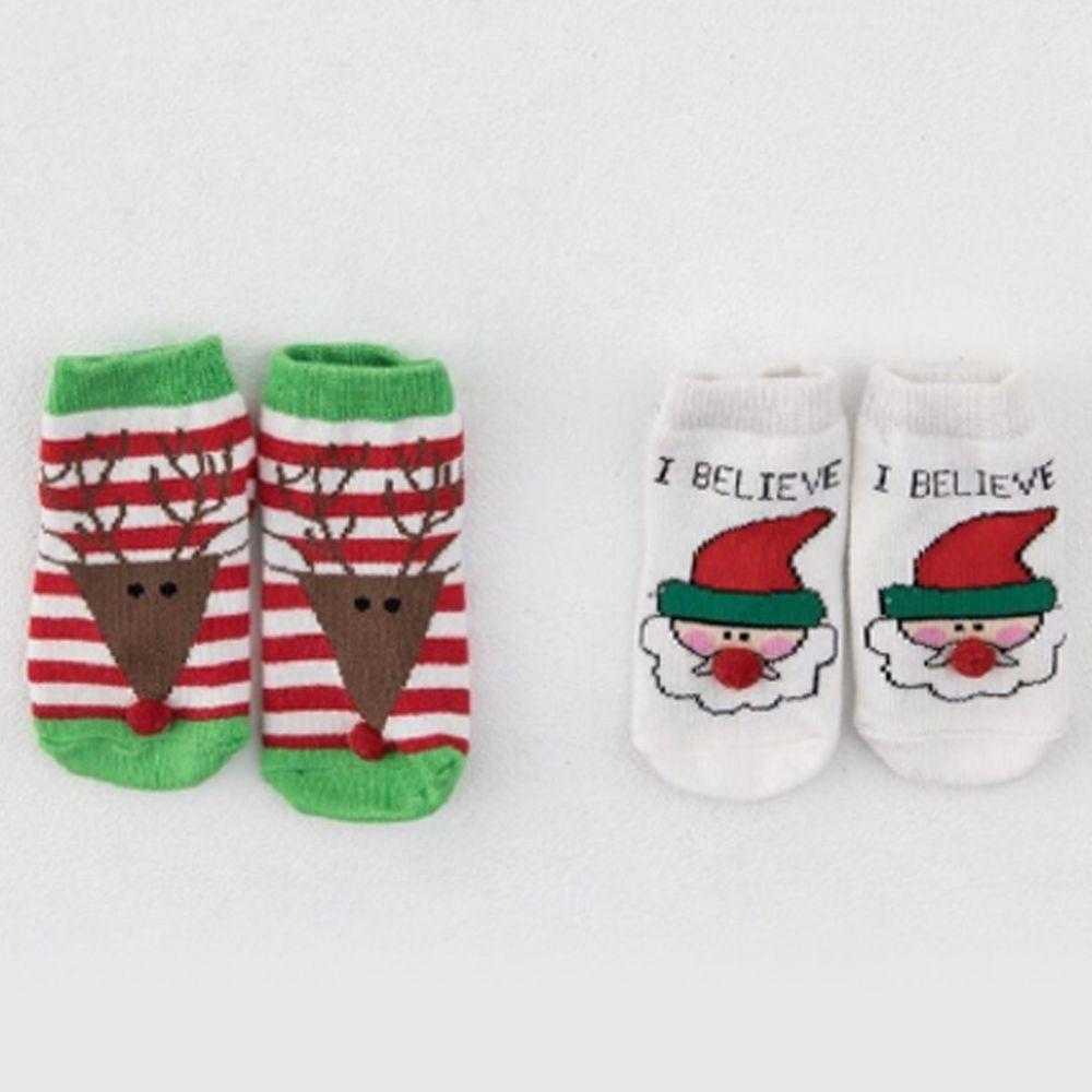 日安朵朵 - 聖誕寶寶襪子2雙組
