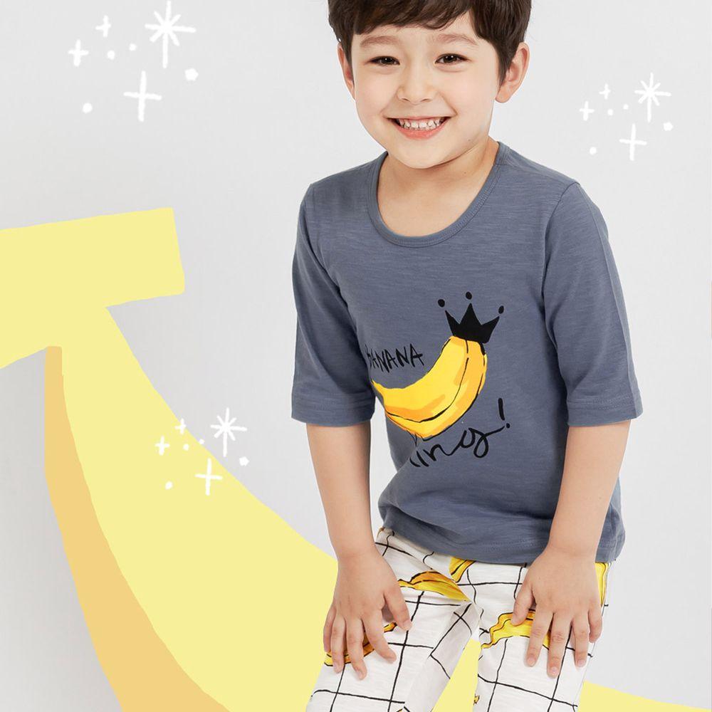韓國 Mellisse - 韓製極致細柔7分袖家居服(無螢光棉)-香蕉王國的國王