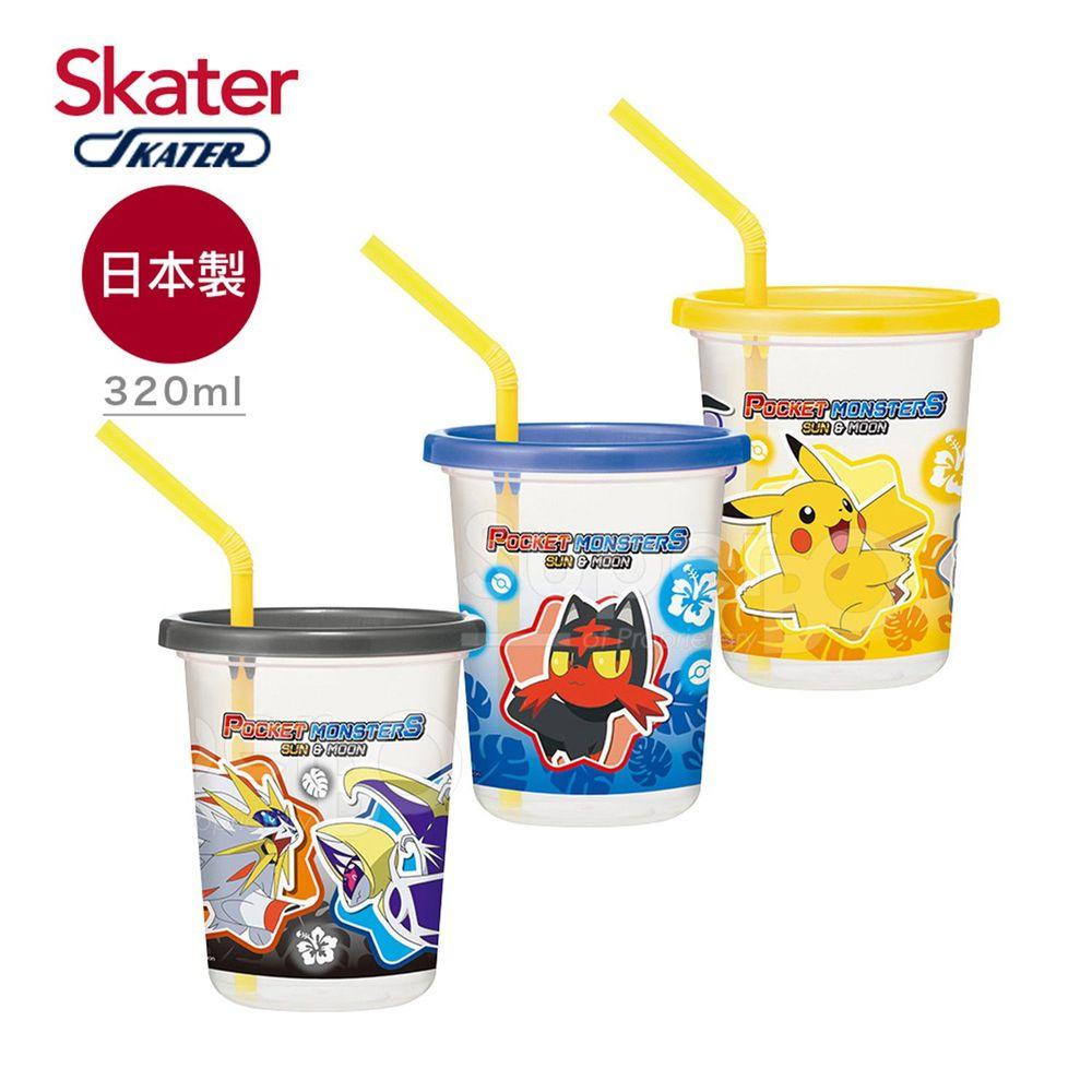 日本 SKATER - 日本製3入水杯(320ml)-寶可夢