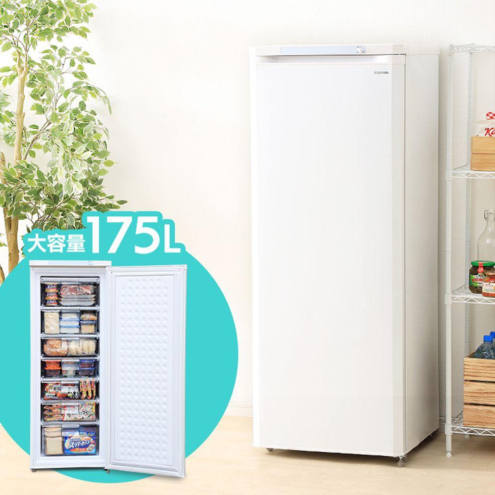 日本 IRIS OHYAMA - 175公升直立式冷凍櫃 IUSD-18A-W