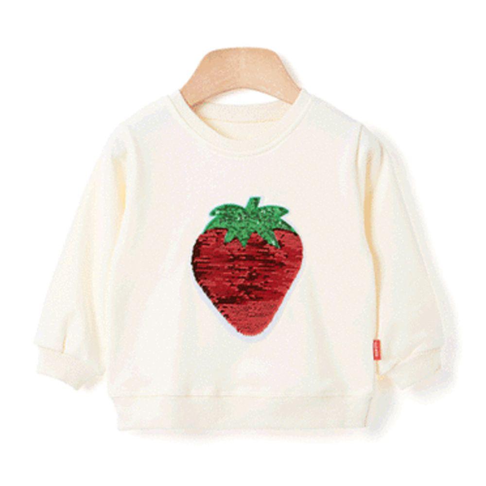 韓國 OZKIZ - 純棉閃亮變色T-草莓