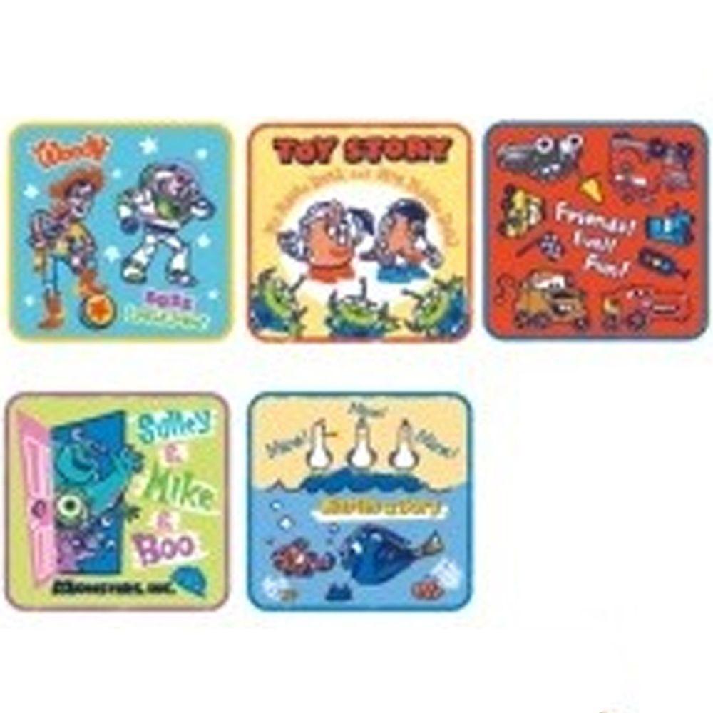 日本代購 - 卡通方形小手帕五件組-玩具總動員 (15x15cm)