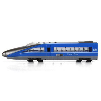 小小鐵道迷-磨輪聲光高速火車-藍色