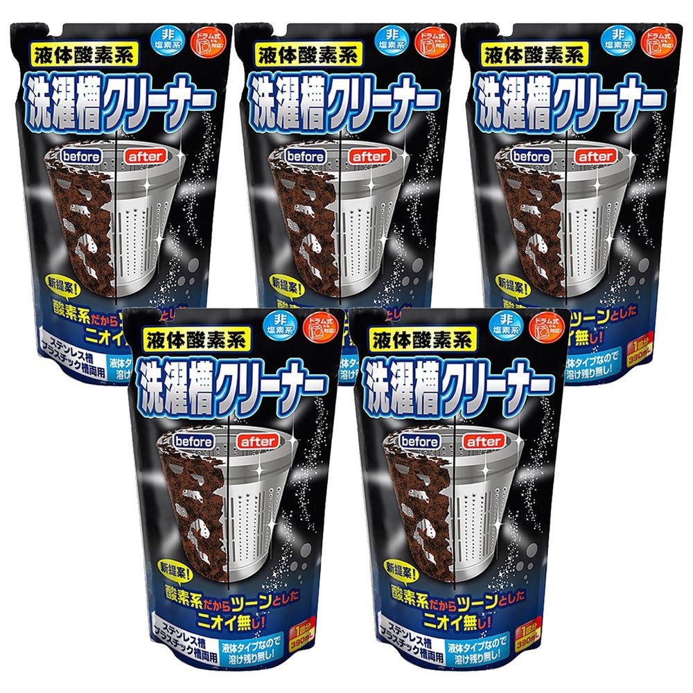 日本 ROCKET - 液體酸素系洗衣槽清潔劑390ml x 5入組-390ml x 5包