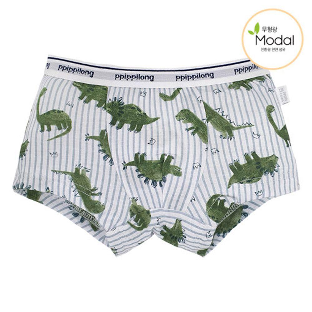韓國 Ppippilong - 天絲莫代爾四角褲(男寶)-恐龍國王