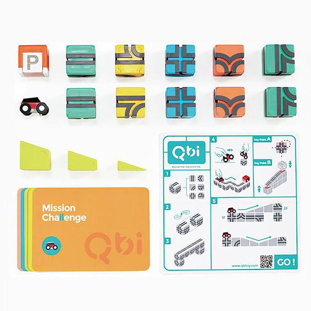 Qbi - 益智磁吸軌道玩具-獨享組-17件組
