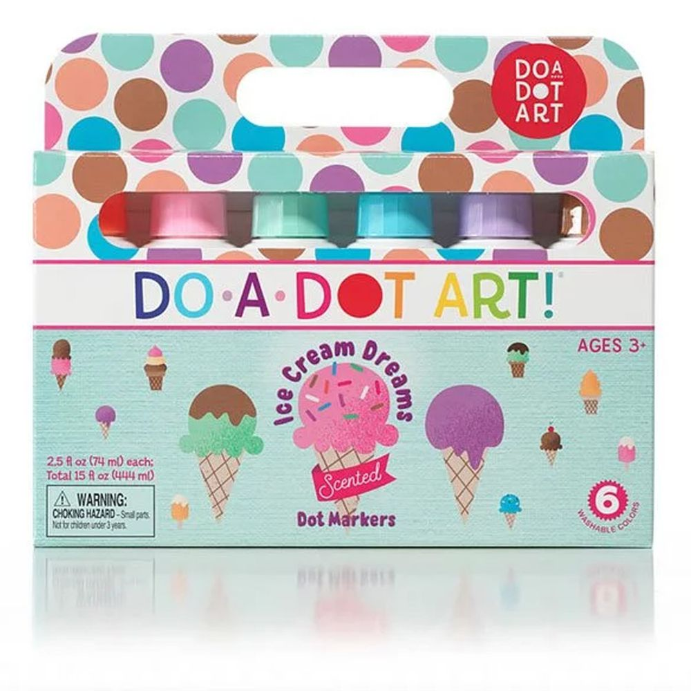 美國 Do A Dot Art - 點點畫筆-6入冰淇淋-70ml/每隻