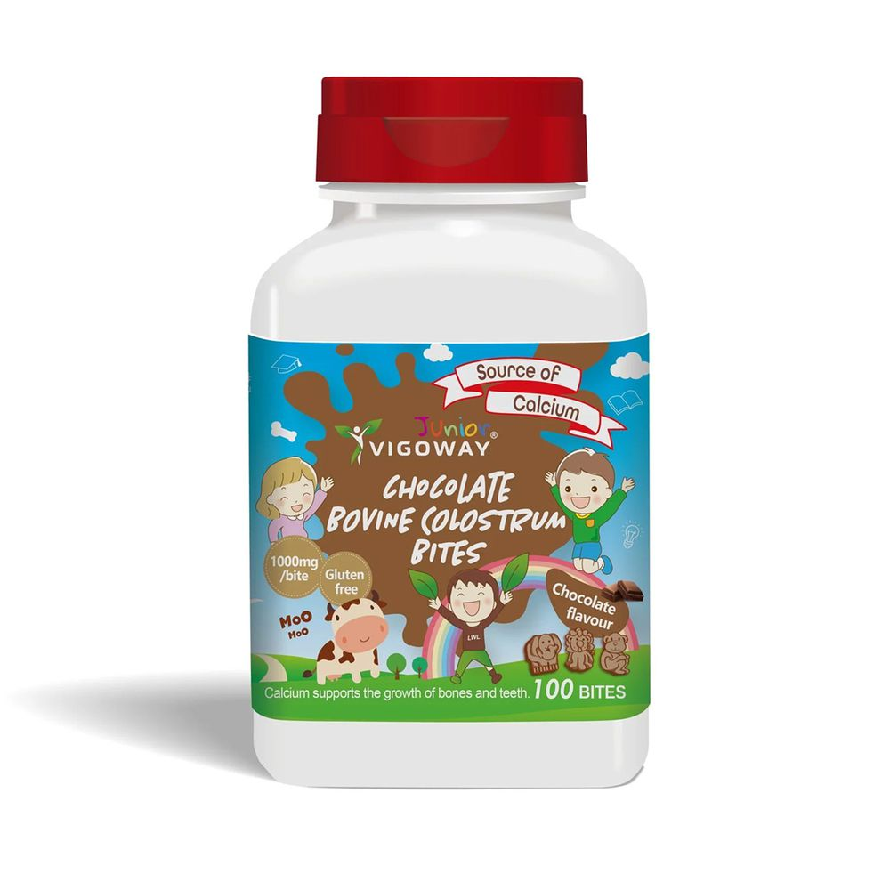 VIGOWAY威客維 - 巧克力牛初乳益生菌咀嚼錠 - 牛乳片-100g