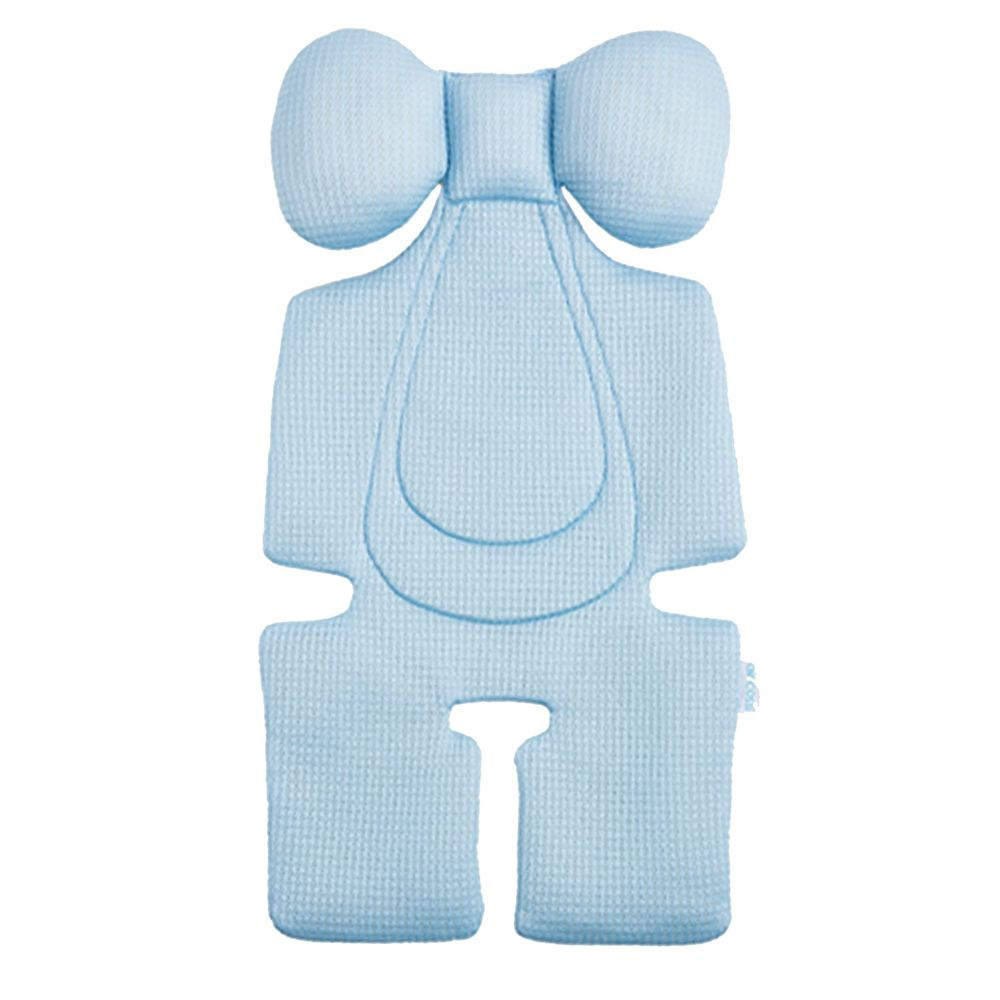 air cossi - 超透氣抗菌天絲坐墊-頭頸支撐款4m-3y-輕柔藍 (67x32cm)