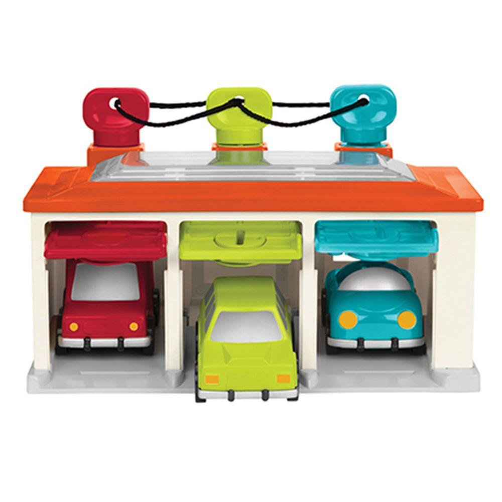 B.TOYS - 藍綠紅車庫