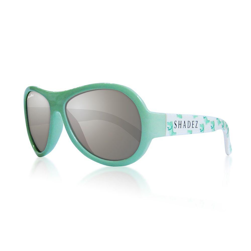 SHADEZ - 可彎折嬰幼兒時尚太陽眼鏡-開心綠鱷魚