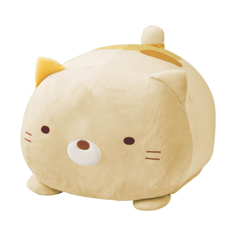 日本千趣會 - 角落生物 多功能棉被衣物收納袋/抱枕/椅墊-貓咪 (33x52x62cm)