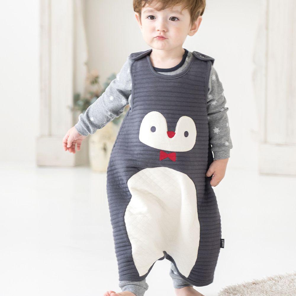 韓國 Cordi-i - 3層鋪棉保暖防踢被-紳士企鵝