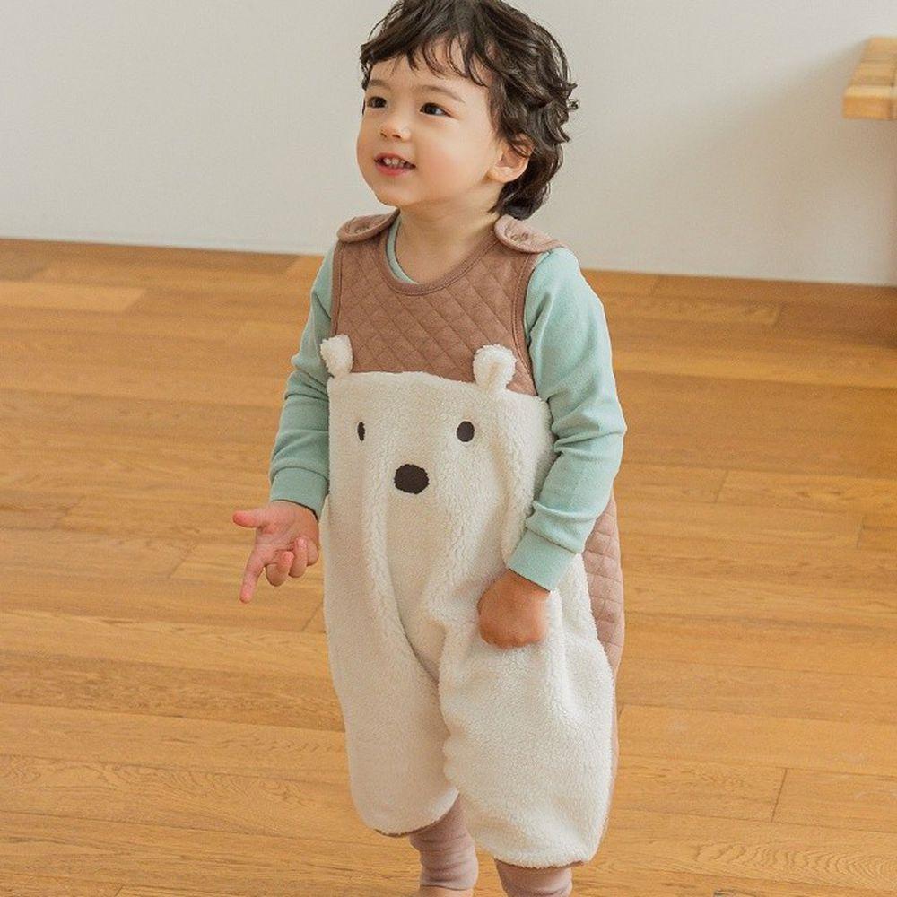 韓國 Cordi-i - 3層鋪棉保暖防踢被-咖啡大熊