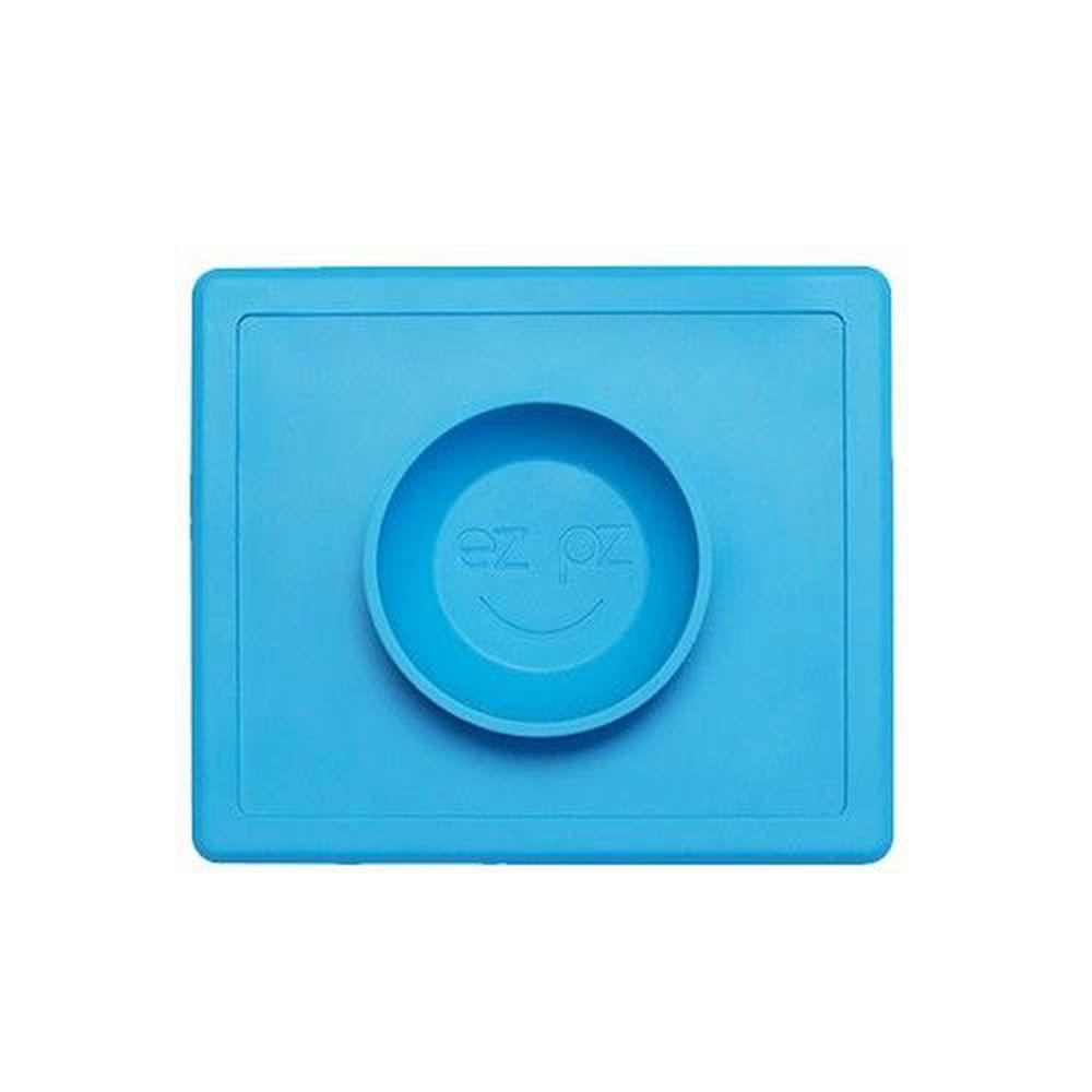 美國 ezpz - 快樂餐盤 Happy Bowl-餐碗-寶石藍 (26cm*23cm*3.8cm)-240ml