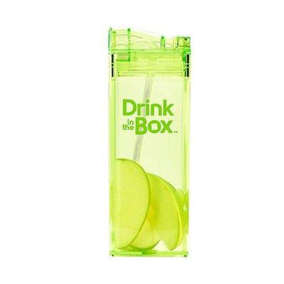 Tritan兒童戶外方形吸管杯-綠色 (355ML)
